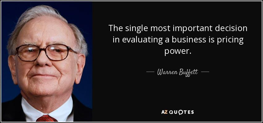 Warren Buffet pricing power