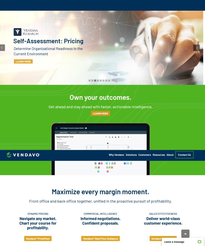 VEndavo digital pricing tool